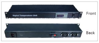 1U digital temperature unit without fan