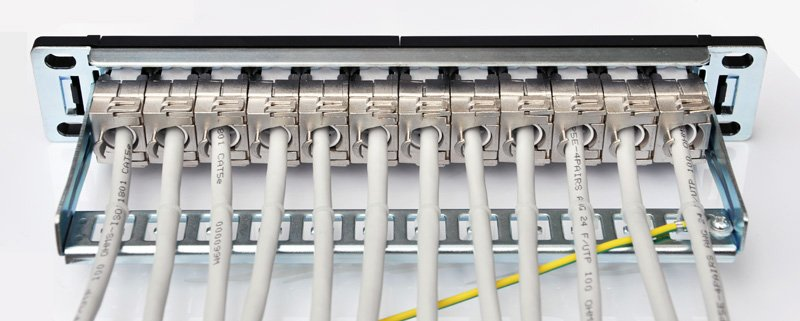 10 Inch Cat.6a Patch Panel Loaded with Cat.6a Shielded Keystone Jacks -  Max. optimize your Cat6a networks performance