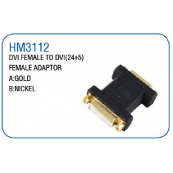 DVI FEMALE TO DVI(24+5) FEMALE ADAPTOR