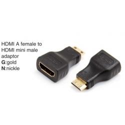 HDMI A male to HDMI mini male adaptor