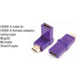 TR-13-009-6 HDMI A male to HDMI A female adaptor,swing type