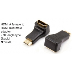 HDMI A male to HDMI mini male adaptor 270°angle type