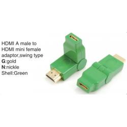 TR-13-005-4 HDMI A male to HDMI mini female adaptor,swing type