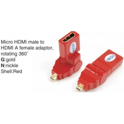 TR-13-002-3 Micro HDMI male to HDMI A female adaptor,rotating 360°