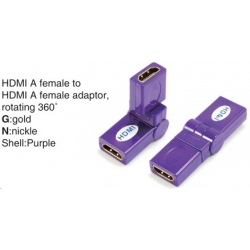 TR-13-008-7 HDMI A male to HDMI A female adaptor,rotating 360°