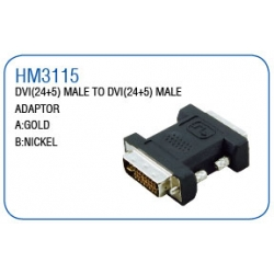 DVI(24+5)MALE TO DVI(24+5)MALE ADAPTOR