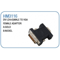 DVI(24+5)MALE TO VGA FEMALE ADAPTOR
