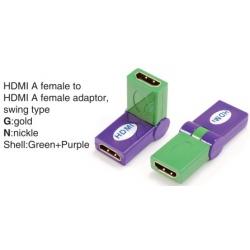 TR-13-007-9 HDMI A female to HDMI A female adaptor,swing type