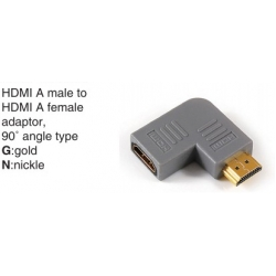 TR-10-020 HDMI A male to HDMI A female adaptor,90°angle type
