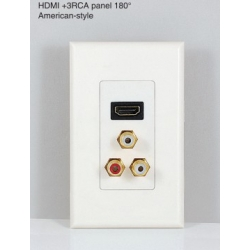 TR-10-084 HDMI+3RCA panel 180°American-style