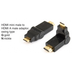 TR-12-003 HDMI mini male to HDMI A female adaptor,swing type