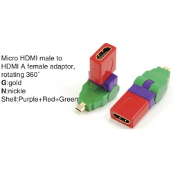 TR-13-002-8 Micro HDMI male to HDMI A female adaptor,rotating 360°