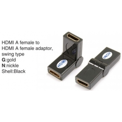 TR-13-007-1 HDMI A female to HDMI A female adaptor,swing type