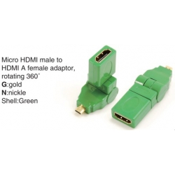TR-13-002-4 Micro HDMI male to HDMI A female adaptor,rotating 360°