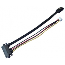SATA 7+15Pin Female to SATA 7Pin+XH2.5 4Pin