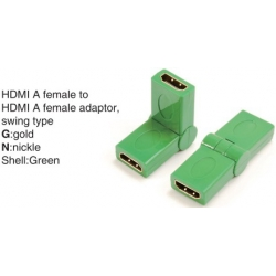 TR-13-007-4 HDMI A female to HDMI A female adaptor,swing type