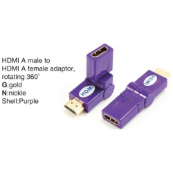 TR-13-006-7 HDMI A male to HDMI A female adaptor,rotating 360°