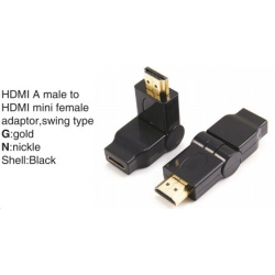 TR-11-005 HDMI A male to HDMI A female adaptor,swing type