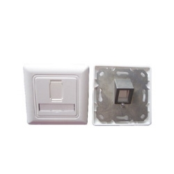 1 Port Wall Plate For Cat.6a Keystone Jack