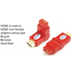 TR-13-005-3 HDMI A male to HDMI mini female adaptor,swing type