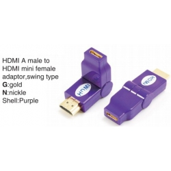 TR-13-005-7 HDMI A male to HDMI mini female adaptor,swing type