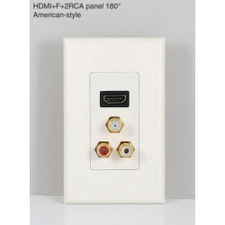 TR-10-083 HDMI+2RCA panel 180°American-style