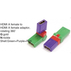 TR-13-008-8 HDMI A male to HDMI A female adaptor,rotating 360°