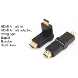 TR-11-010 HDMI A male to HDMI A female adaptor,swing type