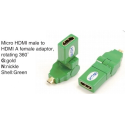 TR-13-002-5 Micro HDMI male to HDMI A female adaptor,rotating 360°