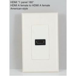 HDMI*1 panel 180°HDMI A female to HDMI A female American-style