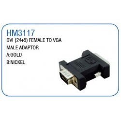 DVI(24+5)FEMALE TO VGA MALE ADAPTOR