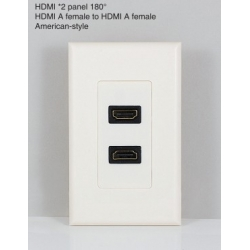 HDMI*2 panel 180°HDMI A female to HDMI A female American-style
