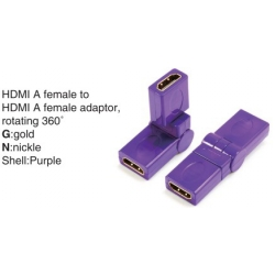 TR-13-008-6 HDMI A male to HDMI A female adaptor,rotating 360°