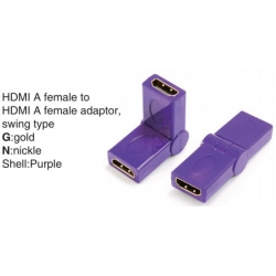 TR-13-007-6 HDMI A female to HDMI A female adaptor,swing type