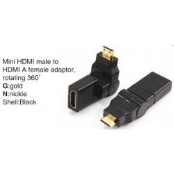 TR-11-004 HDMI A male to HDMI A female adaptor,swing type
