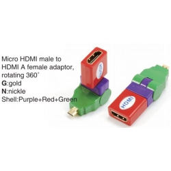 TR-13-002-9 Micro HDMI male to HDMI A female adaptor,rotating 360°