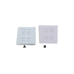 4 Ports Wall Plate