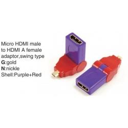 TR-13-001-8 Micro HDMI male to HDMI A female adaptor,swing type