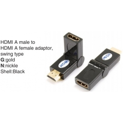 TR-13-009-1 HDMI A male to HDMI A female adaptor,swing type