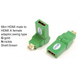 TR-13-003-5 Mini HDMI male to HDMI A female adaptor,swing type