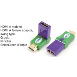 TR-13-009-9 HDMI A male to HDMI A female adaptor,swing type