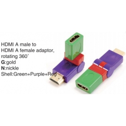 TR-13-006-8 HDMI A male to HDMI A female adaptor,rotating 360°