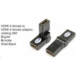 TR-13-008-1 HDMI A male to HDMI A female adaptor,rotating 360°