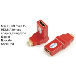 TR-13-003-3 Mini HDMI male to HDMI A female adaptor,swing type