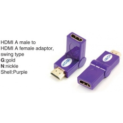 TR-13-009-7 HDMI A male to HDMI A female adaptor,swing type