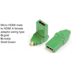 TR-13-001-4 Micro HDMI male to HDMI A female adaptor,swing type