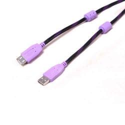 USB Cable AM TO AF W/ Ferrite& Nylon braiding