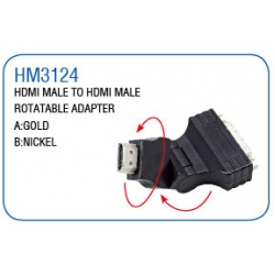 HDMI MALE TO HDMI MALE ROTATABLE ADAPTER