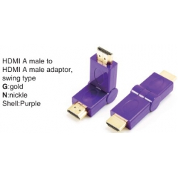 TR-13-010-6 HDMI A male to HDMI A female adaptor,swing type