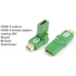 TR-13-006-5 HDMI A male to HDMI A female adaptor,rotating 360°